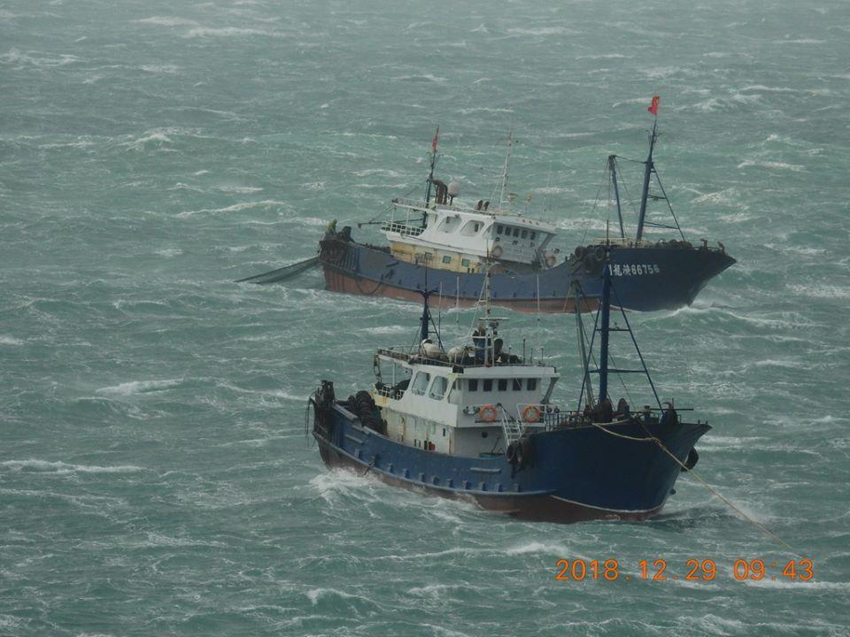 大陸漁船集體至南方四島海域越界捕魚
