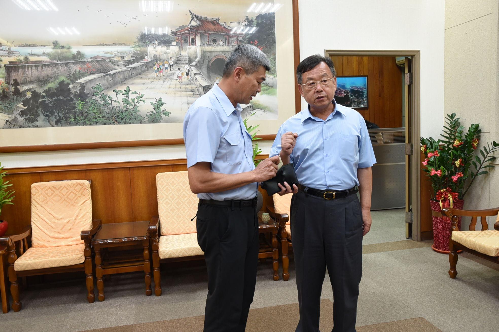 賴峰偉表達維護澎湖海洋資源的決心
