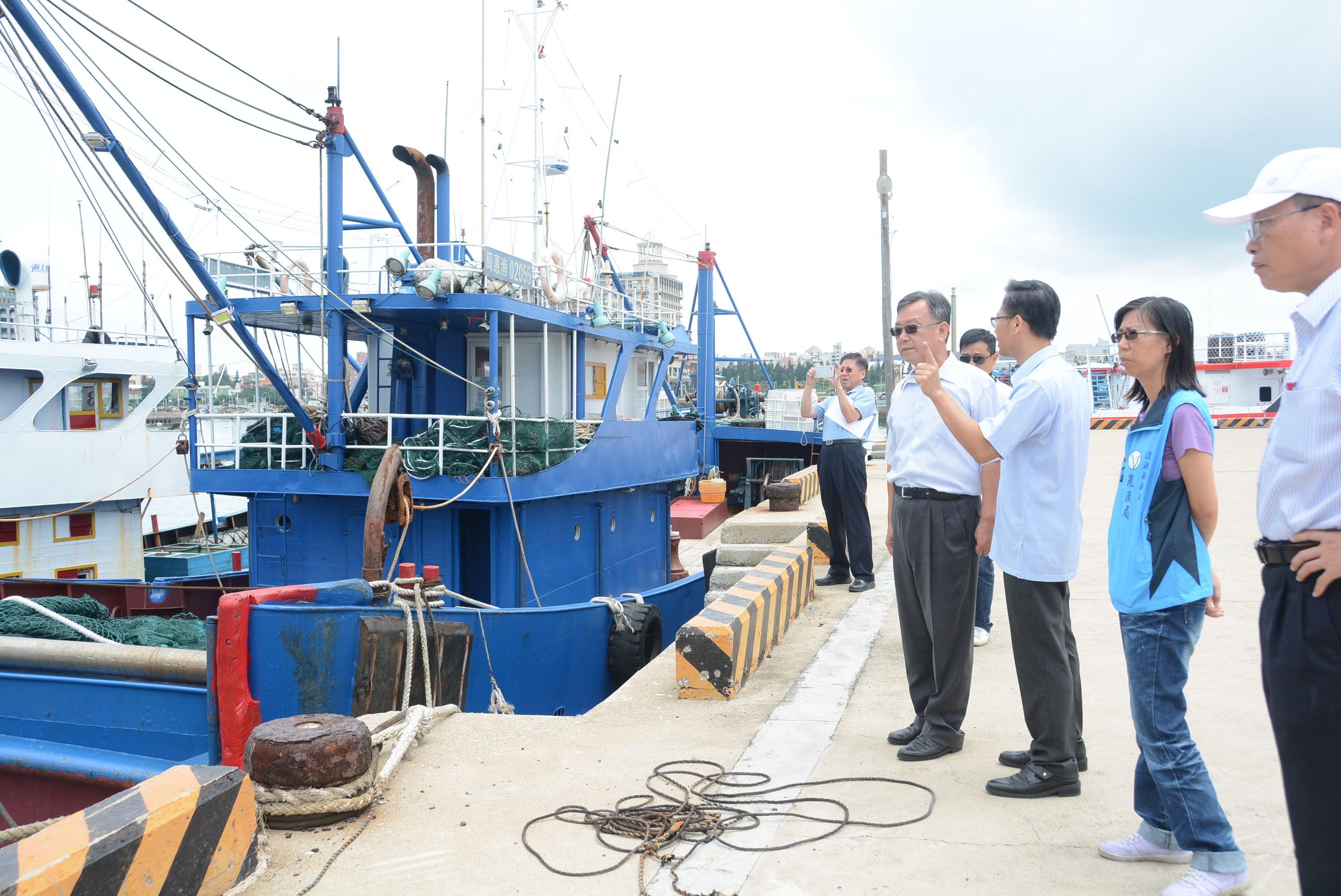 賴峰偉視察查扣大陸漁船