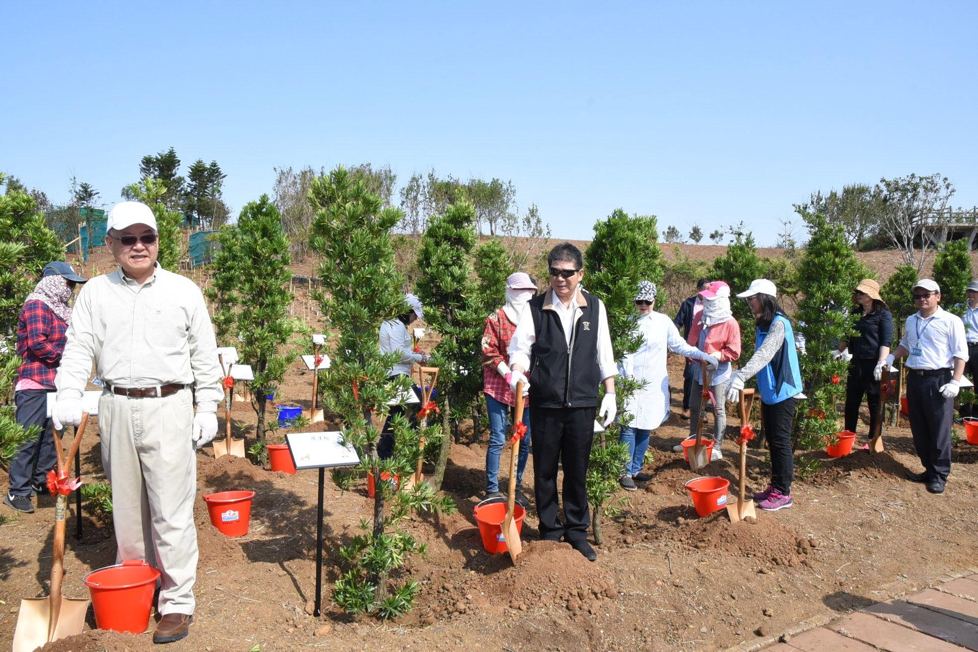 縣府菜園植樹造林0.7公頃