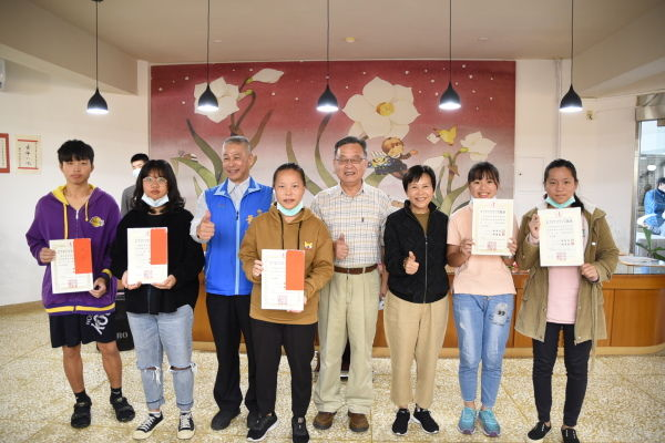 表揚楊子儀老師紀念獎書法比賽優勝參賽者