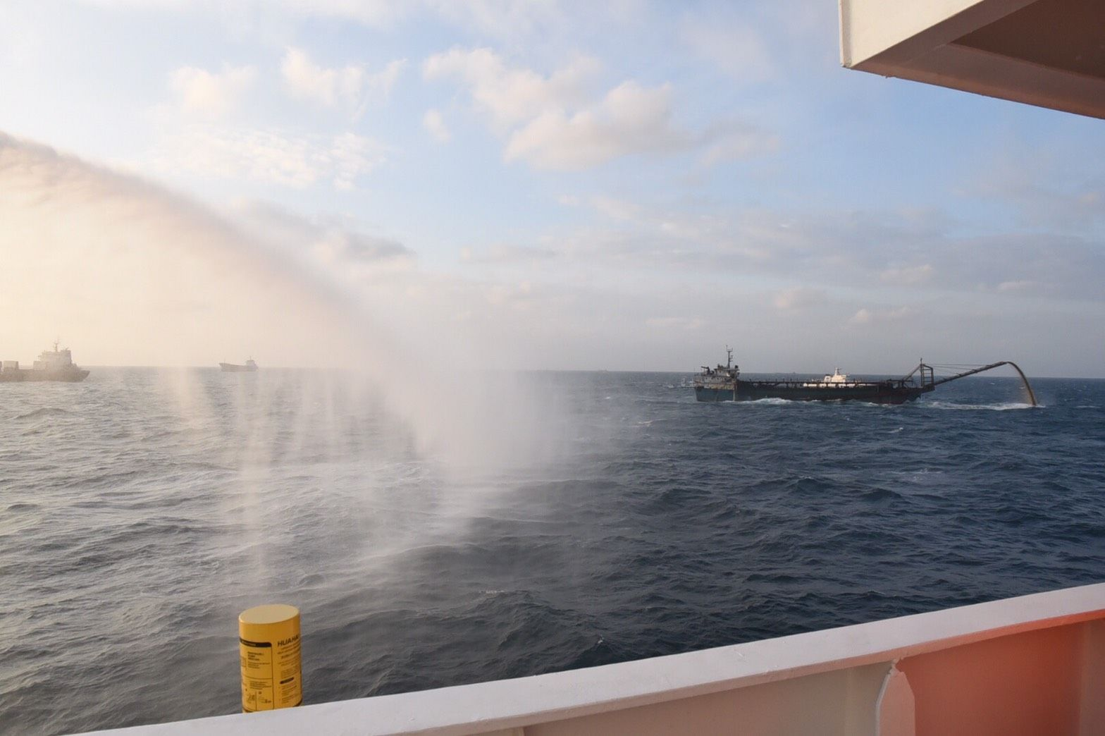 Coast Guards used water cannon to warn and deter these vessels.